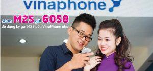 Đăng ký gói cước M25 của VinaPhone