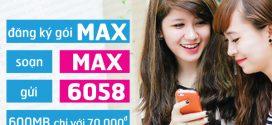 Đăng ký MAX Vinaphone đăng ký MIMAX Vina trọn gói 70k