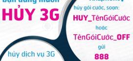 Cách hủy gói cước 3G Vinaphone trên điện thoại