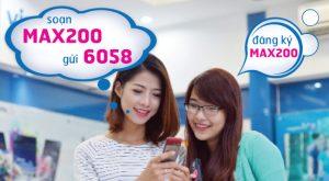 Cú pháp đăng ký gói MAX200 của Vinaphone