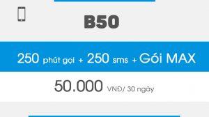 Gói khuyến mại B50 Vinaphone miễn phí gọi, nhắn tin, data 3G