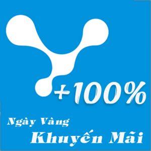 Vinaphone khuyen mai 100%