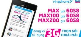 Các gói cước 3G Vinaphone không giới hạn dung lượng trọn gói