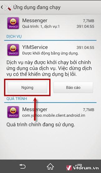 Huong dan tat ung dung chay ngam