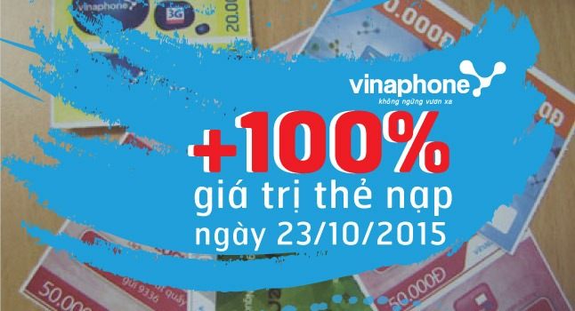 Vinaphone khuyến mãi 100%