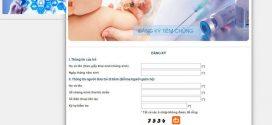 Website đăng ký lịch tiêm chung vắc xin Pentaxim