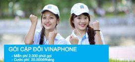 Cách đăng ký  gói cước Cặp đôi Vinaphone 20.000đ/tháng