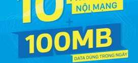 Đăng ký gói cước VD10 VinaPhone Miễn phí 10 phút gọi và 100MB DATA