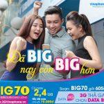 Đăng ký gói BIG70 Vinaphone miễn phí 2.4 GB data chỉ 70.000đ