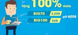 Tặng 100% data khi đăng ký gói BIG Vinaphone ngày 24/7,25/7