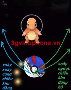 Cách ném bóng xoáy để bắt Pokemon