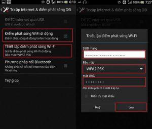Cách phát wifi chia sẻ wifi bằng 3G từ điện thoại Andoird, Iphone