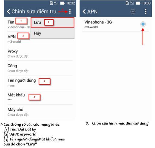 Cách cài đặt 3G Vinaphone cho điện thoại Asus Zenfone