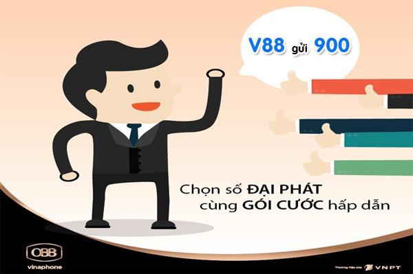 Đăng ký V88 Vinaphone gọi nội mạng ngoại mạng 880đ/phút