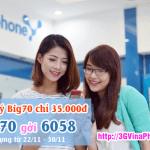 Cách đăng ký gói Big70 chỉ 35.000đ cho thuê bao VinaPhone