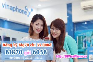 Cách đăng ký gói Big70 chỉ 35.000 cho thuê bao VinaPhone