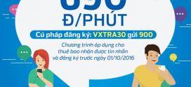 Gói cước VXTRA30 Vinaphone gọi nội mạng chỉ 690đ/phút