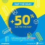 Vinaphone Khuyến mãi 50% thẻ nạp từ ngày 4/11 – 6/11/2016