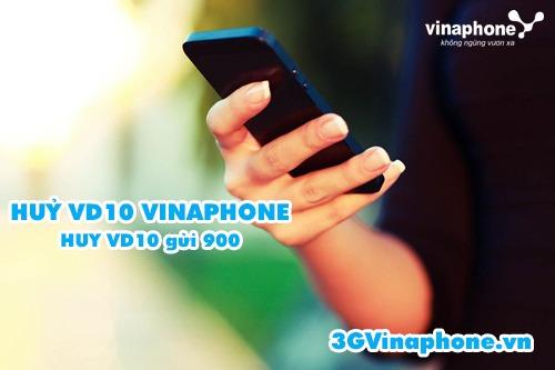 Hướng dẫn cách hủy gói cước VD10 Vinaphone