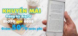 Tặng 50% cước phí sử dụng gói BIG70 Vinaphone trong 3 chu kỳ
