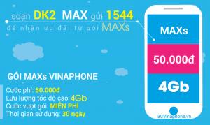 Đăng ký gói 3G Vinaphone sinh viên gói cước MAXs Vinaphone