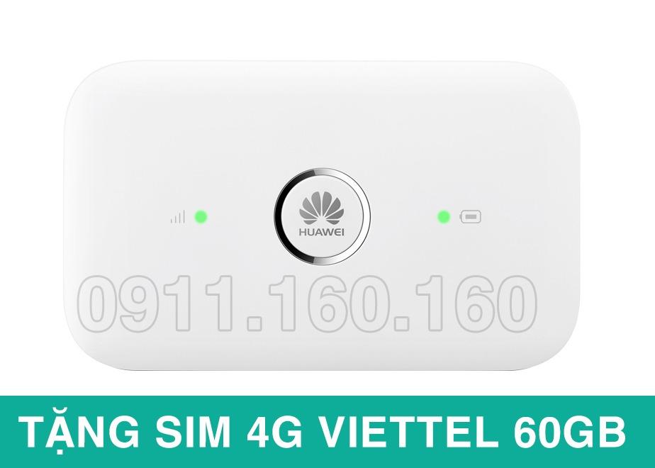 Bộ phát wifi 3G/4G Huawei E5573 + Tặng sim 4G Viettel 60Gb