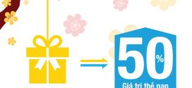 Khuyến mãi Vinaphone tặng 50% giá trị thẻ nạp ngày 24/1/2017