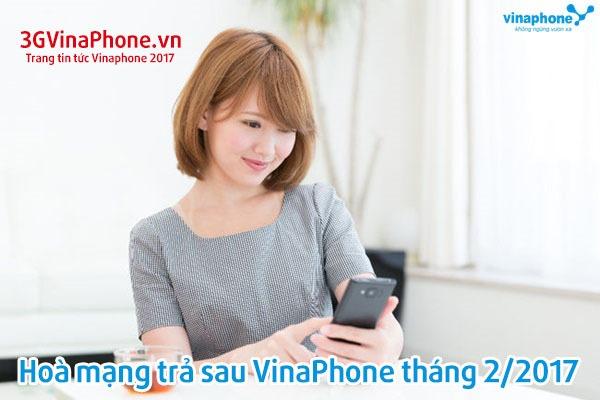 Khuyến mãi trả sau Vinaphone tháng 2/2017 nhận ưu đãi khủng