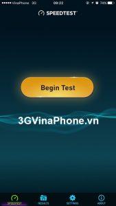 Cách kiểm tra tốc độ kết nối mạng 3G Vinaphone trên điện thoại