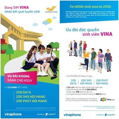 Những khuyến mãi sim sinh viên VinaPhone năm 2017