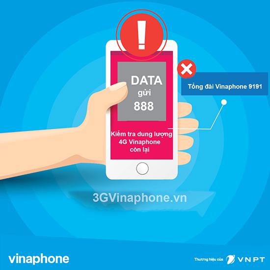 Hướng dẫn kiểm tra dung lượng data 4G Vinaphone tốc độ cao