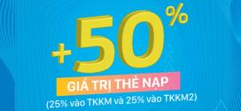 Vinaphone khuyến mãi ngày 15/3 tặng 50% giá trị thẻ nạp