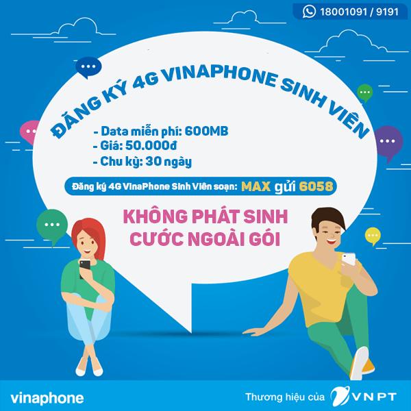 Cách đăng ký 4G Vinaphone Sinh Viên gói Maxs Vinaphone