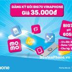 Đăng ký gói Big70 Vinaphone chỉ 35.000đ từ 24/3 - 31/3