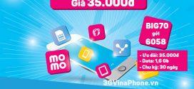 Đăng ký gói Big70 Vinaphone chỉ 35.000đ từ 24/3 – 31/3