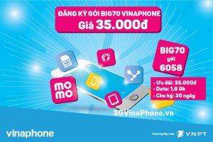 Đăng ký gói Big70 Vinaphone chỉ 35.000 từ 24/3 - 31/3