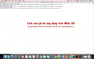 [Hỏi đáp] Cách xoá gỡ bỏ ứng dụng trên Mac OS X
