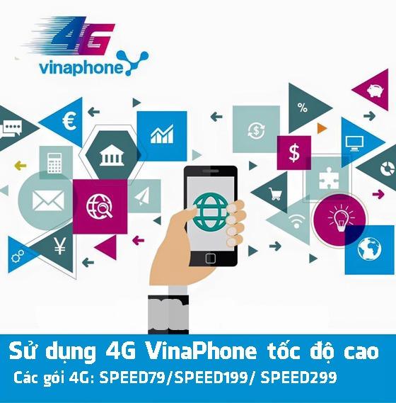 đăng ký các gói 4G Data Speed Vinaphone để sử dụng