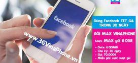Đăng ký gói cước Facebook VinaPhone online thường xuyên