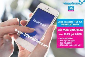 Thường xuyên online facebook thì đăng ký gói 3G Vinaphone nào?