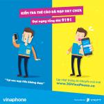 Cáchkiểm tra thẻ cào điện thoại VinaPhone đã nạp hay chưa