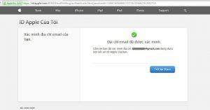 Xác minh tài khoản Apple ID