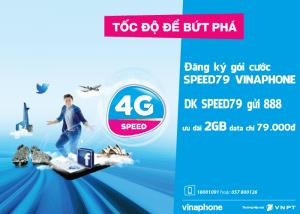 Đăng kýgói cước SPEED79 Vinaphone nhận 2Gb data 4G VinaPhone