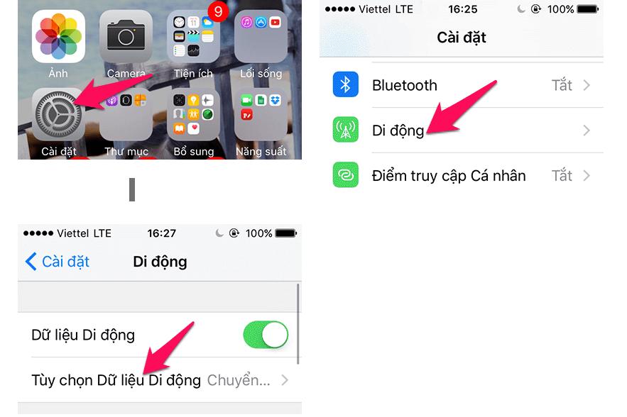 Hướng dẫn cách kích hoạt 4G, bật 4G trên điện thoại iPhone