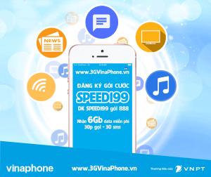 Đăng ký gói SPEED199 Vinaphone thoải thích truy cập 4G với 6Gb data