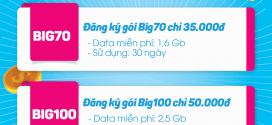 Vinaphone Khuyến mãi 50% đăng ký gói Big70 và Big100 từ 15/5 – 31/5/2017