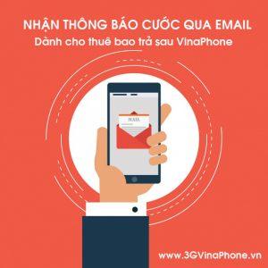 Đăng ký nhận thông báo cước trả sau Vinaphone qua Email