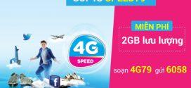 Đăng kýgói cước SPEED79 Vinaphone nhận 2GB data 4G