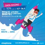 Đăng ký gói BIG70 Vinaphone chỉ 35.000 đến hết tháng 7/2017