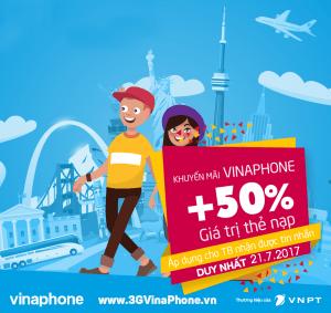 Khuyến mãi VinPhone 21/6/2017 tặng 50% giá trị thẻ nạp